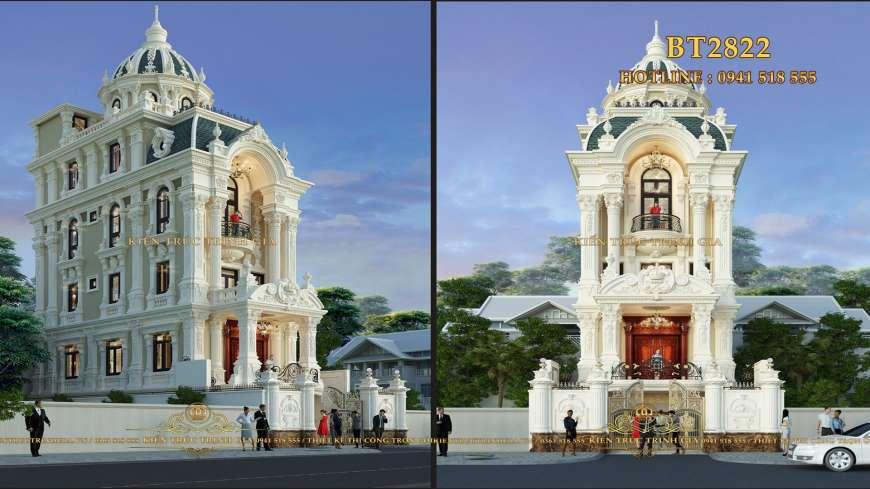 Biệt thự tân cổ điển phong cách châu Âu nổi bật ở TP Bắc Ninh